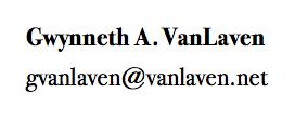 Contact G. VanLaven